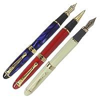 abcsea 3pcs 450ペンなど、1pcsクラシックスタイルMediumペン先万年筆ゴールデントリム、1pcsローラーボールペンと1pcsアート万年筆
