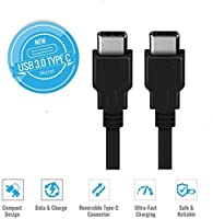 Huetron TM 3 FT USB Type C Male to Type C Male Cable for ZTE Axon Max [並行輸入品]