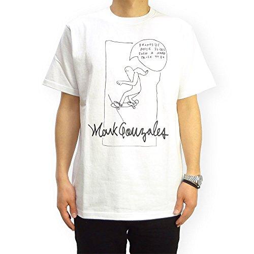 (マークゴンザレス) Mark Gonzales SKATEBOARDING Tシャツ (L, ホワイト)