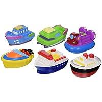 Elegant Baby Bath Time Fun Rubber Water Squirties Vinyl Zip Storage Bag, Boat Party, Set of 6 by Elegant Baby [並行輸入品]