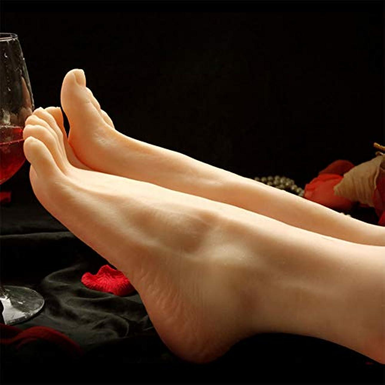 承知しましたひねくれた廊下骨ディスプレイジュエリーサンダル靴ソックスと1ペアシリコーンライフサイズ女性マネキンフットネイルアートでスケッチを表示