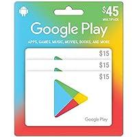 Google Play $ 45Prepaidギフトカード–3x $ 15(物理カード)
