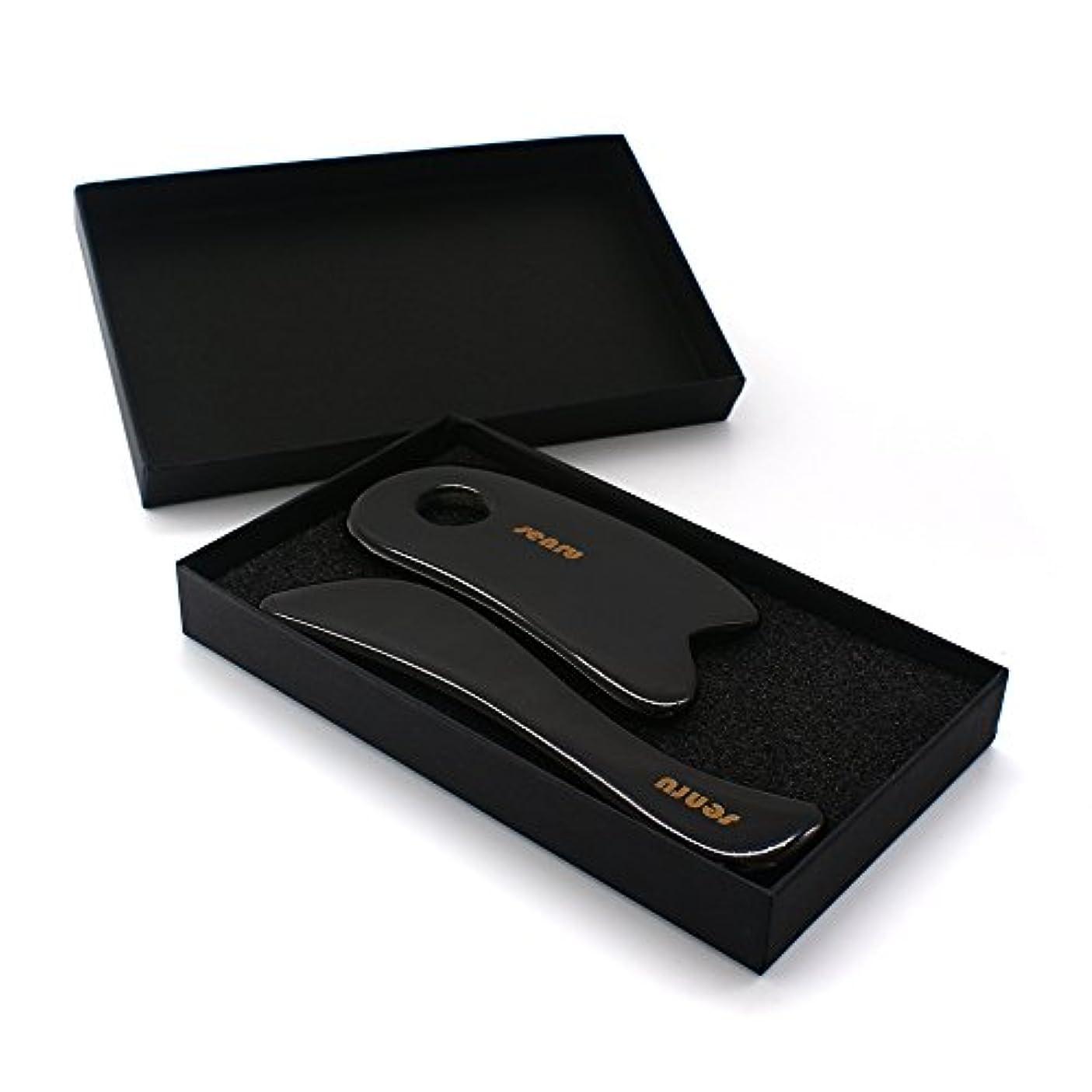 視力不満中性SENRU マッサージツール 水牛角カッサ道具、カッサボード、カッサマッサージ道具