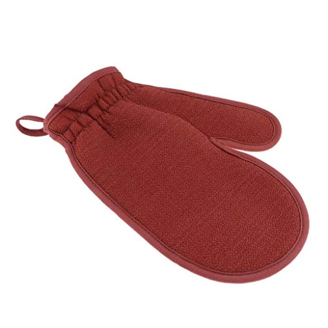 積分断線ブリーフケースFenteer 浴用手袋 ボディタオル バスミット 垢すり用グローブ 両面 角質除去 男女兼用 旅行 家