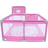 ボールとバスケットボールのフープ、屋内屋外の安定した子供の幼児子供の遊び場 (色 : Pink)