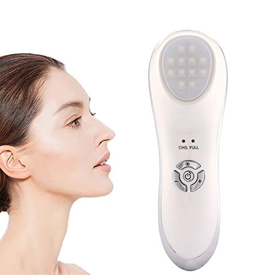ケーブル詳細にケーブル顔の美容マッサージ、微振動LEDライト美容機器、顔のリフトは皮膚再生を引き締め