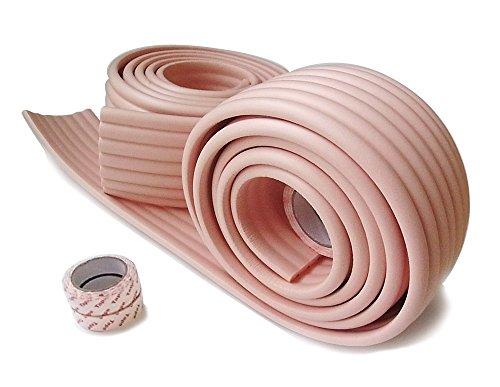 赤ちゃんの ケガ防止 ガード  コーナークッション 2m×2セット 設置 自由自在 取付説明書付 選べるカラー7色  両面テープ付き! (ピンク)