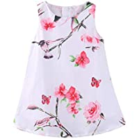 LittleSpring Girls Floral Jumper Skirt