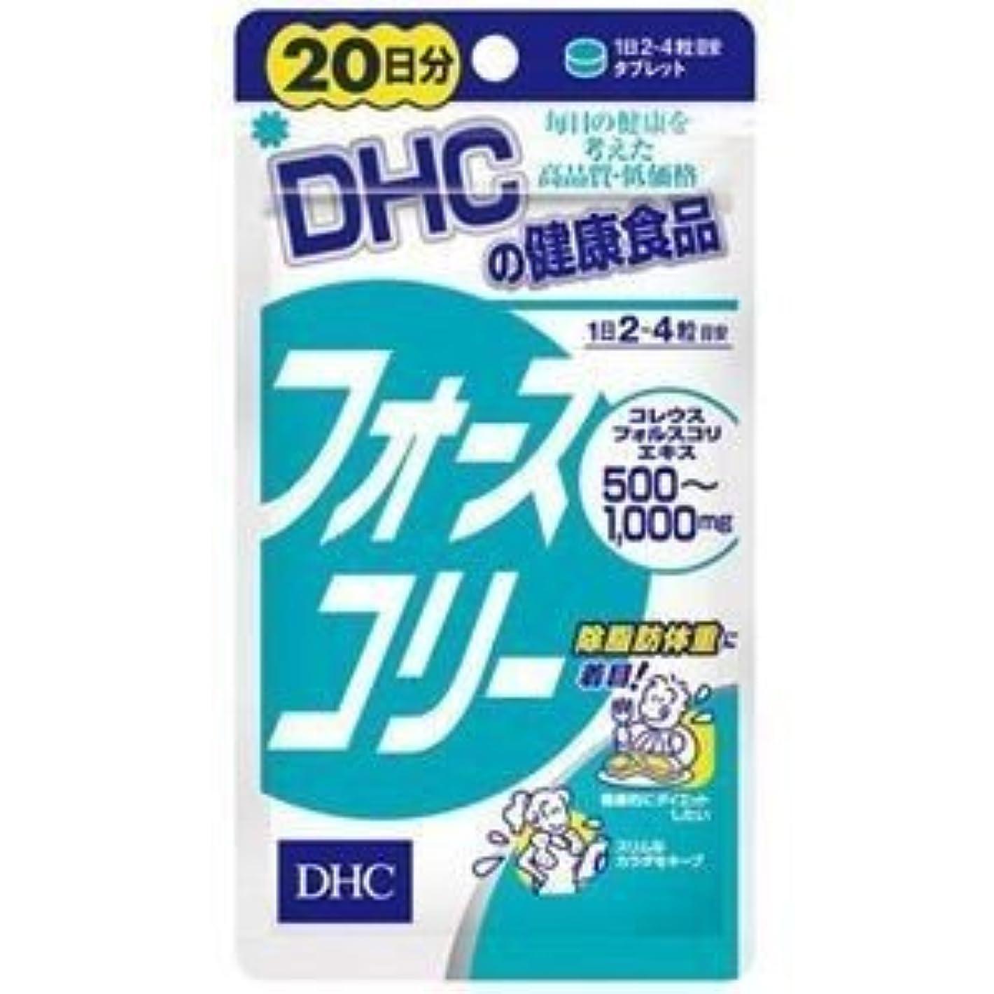 軌道記念品単調なDHC フォースコリー 20日分 80粒