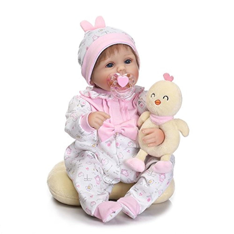 Decdeal 41cm リボーンベビードール PP充填ボディ ギフト おもちゃ ピンクの布が付き