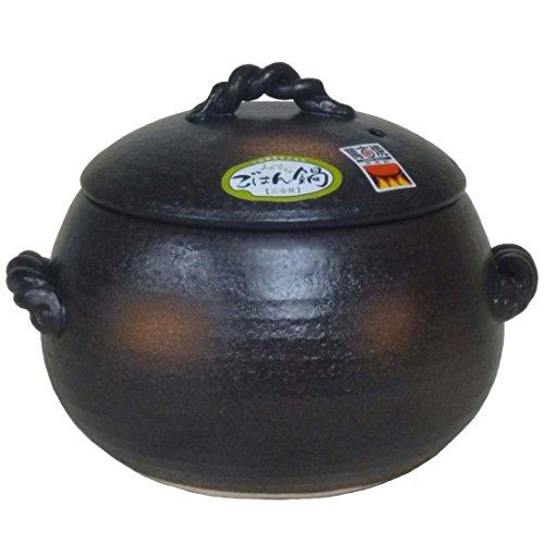 三鈴陶器 ごはん鍋 ご飯土鍋 1合炊き 四日市 万古焼