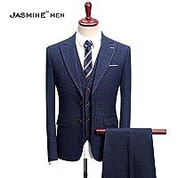 d38f94043a56d Jasmine Men スーツ メンス スリーピース オシャレ ジャケット スラックス 2つボタン S-4L チェックビジネス