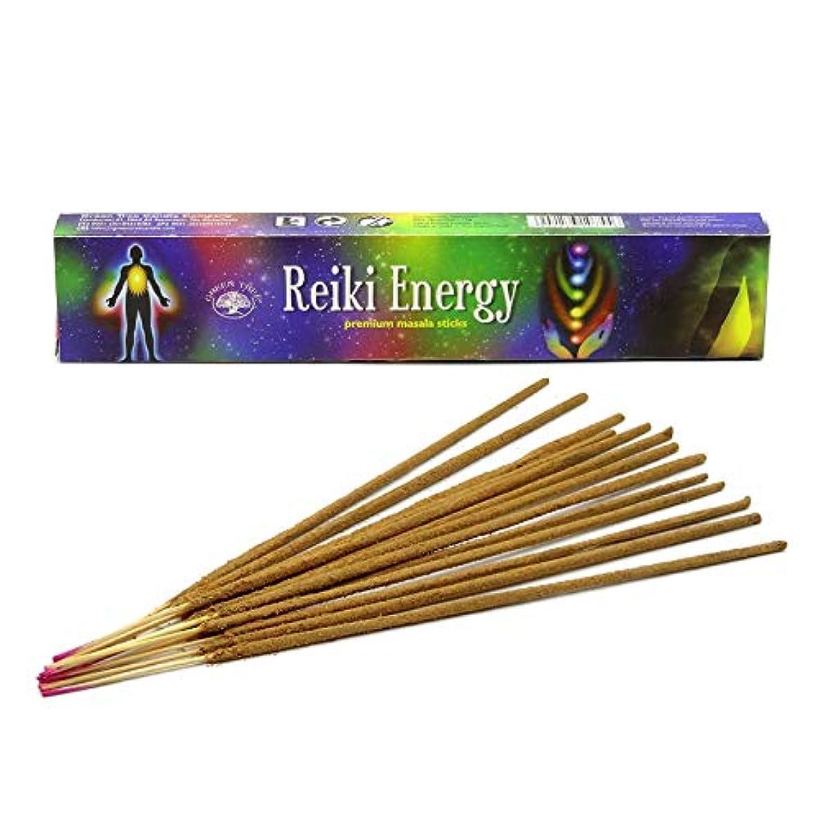一致する完全に乾くブリークGreen Tree Reiki Energy Masala Incense 12 Sticks Boxed