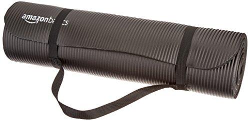 Amazonベーシック ヨガマット ブラック 13mm キャリーストラップ付