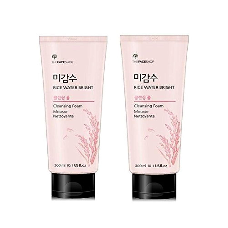 リング悪名高い屈辱するザ?フェイスショップ米感水ブライトクレンジングフォーム300ml x 2本セット韓国コスメ、The Face Shop Rice Water Bright Cleansing Foam 300ml x 2ea Set Korean Cosmetics [並行輸入品]