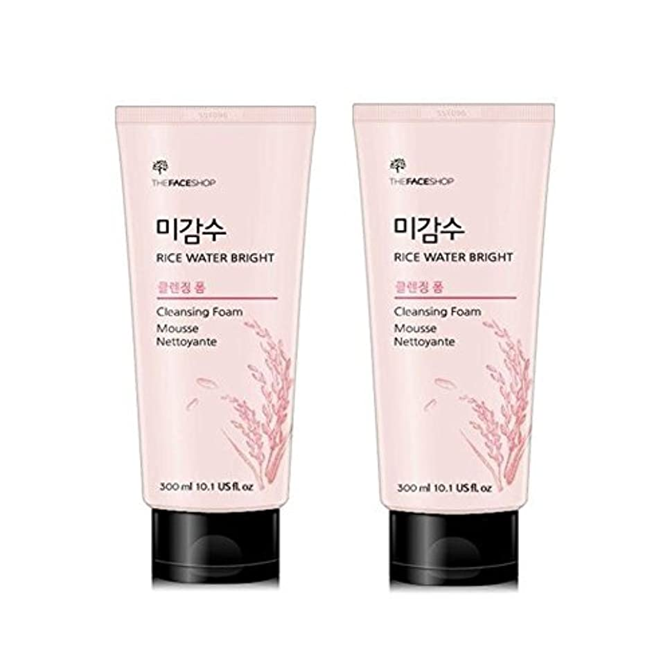 再生的階下シーケンスザ?フェイスショップ米感水ブライトクレンジングフォーム300ml x 2本セット韓国コスメ、The Face Shop Rice Water Bright Cleansing Foam 300ml x 2ea Set Korean...