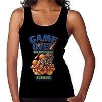 RHEYJQA Retro Pixel Game Over Dinosaur Survival Women's Vest