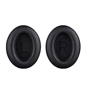 Bingle イヤーパッド QC35用イヤークッション 交換用ヘッドホンパッド BOSE QuietComfort 35 headphones QC35対応 ブラック