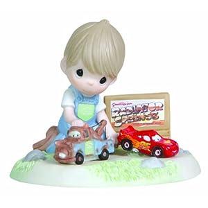 プレシャス・モーメンツ Precious Moments ディズニー カーズ ライトニング・マックウィーン & メーター Boy Playing Cars Mater and Lightning McQueen フィギュア 13.5cm