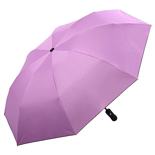 (アドンルル)adunlulu自動開閉折り畳み傘トラベルアウトドア傘、逆さ傘 逆折り式傘 耐風傘 撥水加工 ビジネス用車用、持ち運びに便利 purple