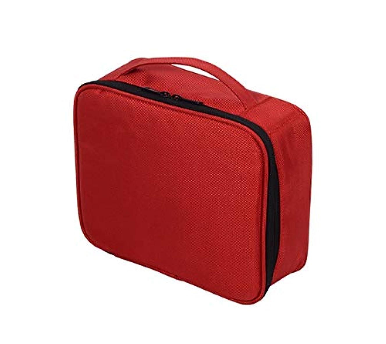 大型トラック差別クラシックLYgMV 化粧バッグ、携帯用旅行化粧品バッグ、携帯用収納、仕上げバッグ、メンズウォッシュバッグ (Color : Red)