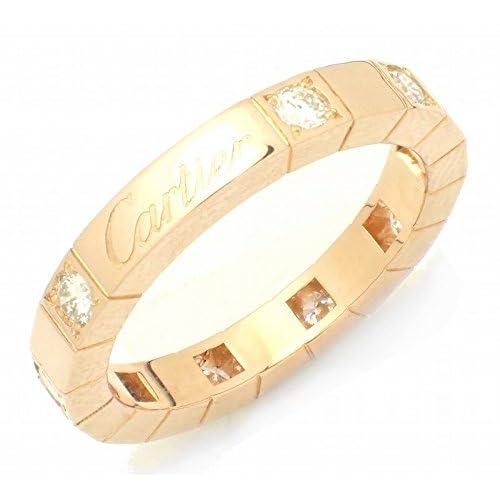 [カルティエ] Cartier ラニエール リング ハーフダイヤ 9Pダイヤ 指輪 K18PG ピンクゴールド #51