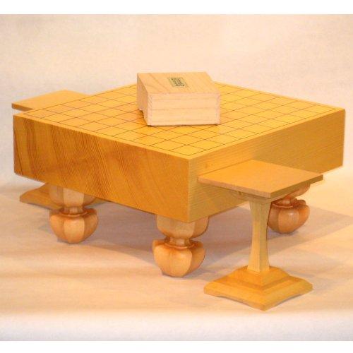 [해외]새로운 榧 3 寸脚付 장기판 세트 木駒 코마 대/Shincho three-sided legged shogi board set wood piece | bridge stand