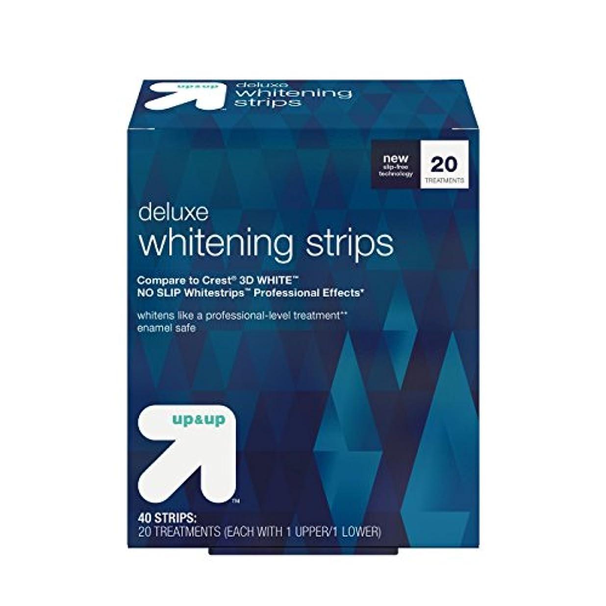 打撃観客観察するデラックスホワイトニングストリップス 20日分 アップ&アップ Deluxe Whitening Strips -20 Day Treatment - up & up