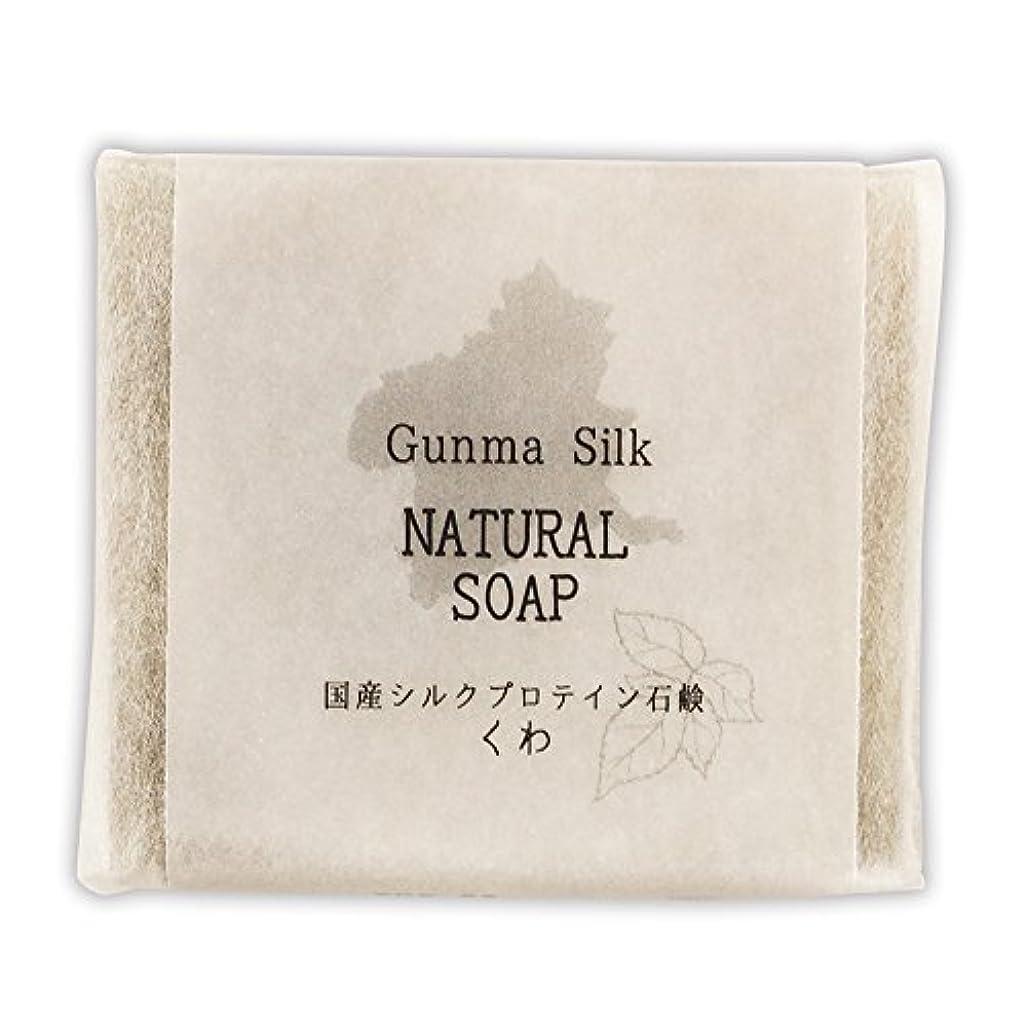 聴覚壮大正しくBN 国産シルクプロテイン石鹸 くわ SKS-03 (1個)