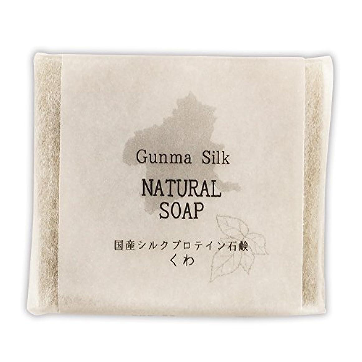 扇動する確実栄養BN 国産シルクプロテイン石鹸 くわ SKS-03 (1個)