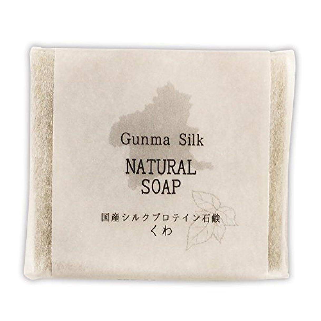 痛みはがき入口BN 国産シルクプロテイン石鹸 くわ SKS-03 (1個)