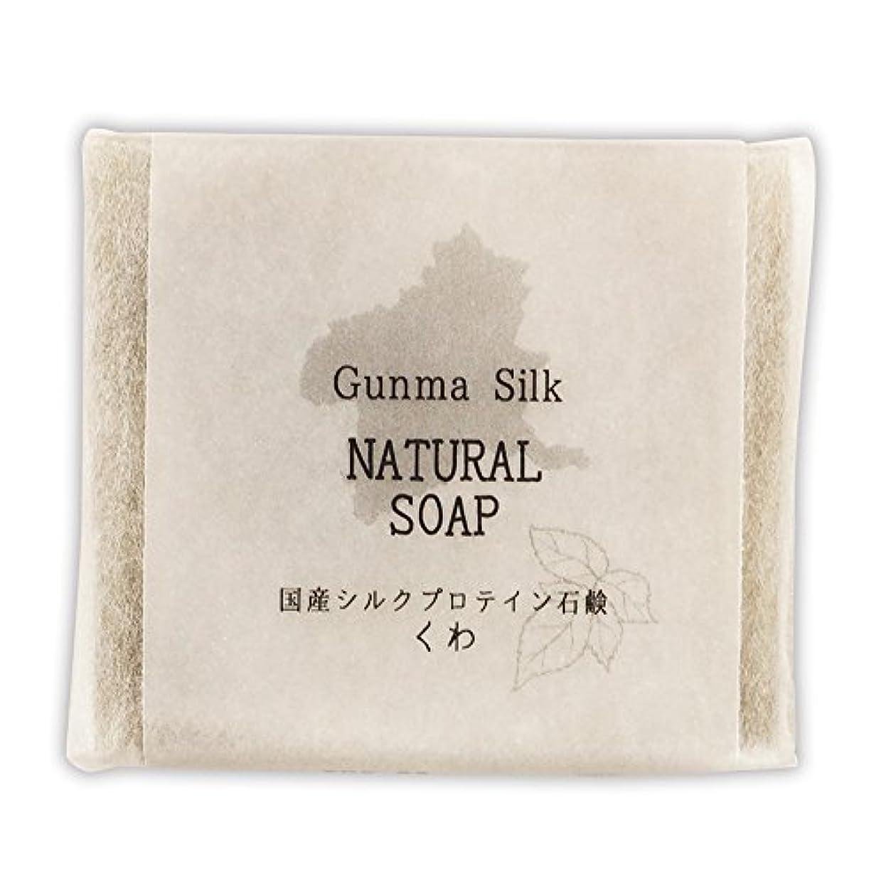 輪郭ホイストぼかしBN 国産シルクプロテイン石鹸 くわ SKS-03 (1個)