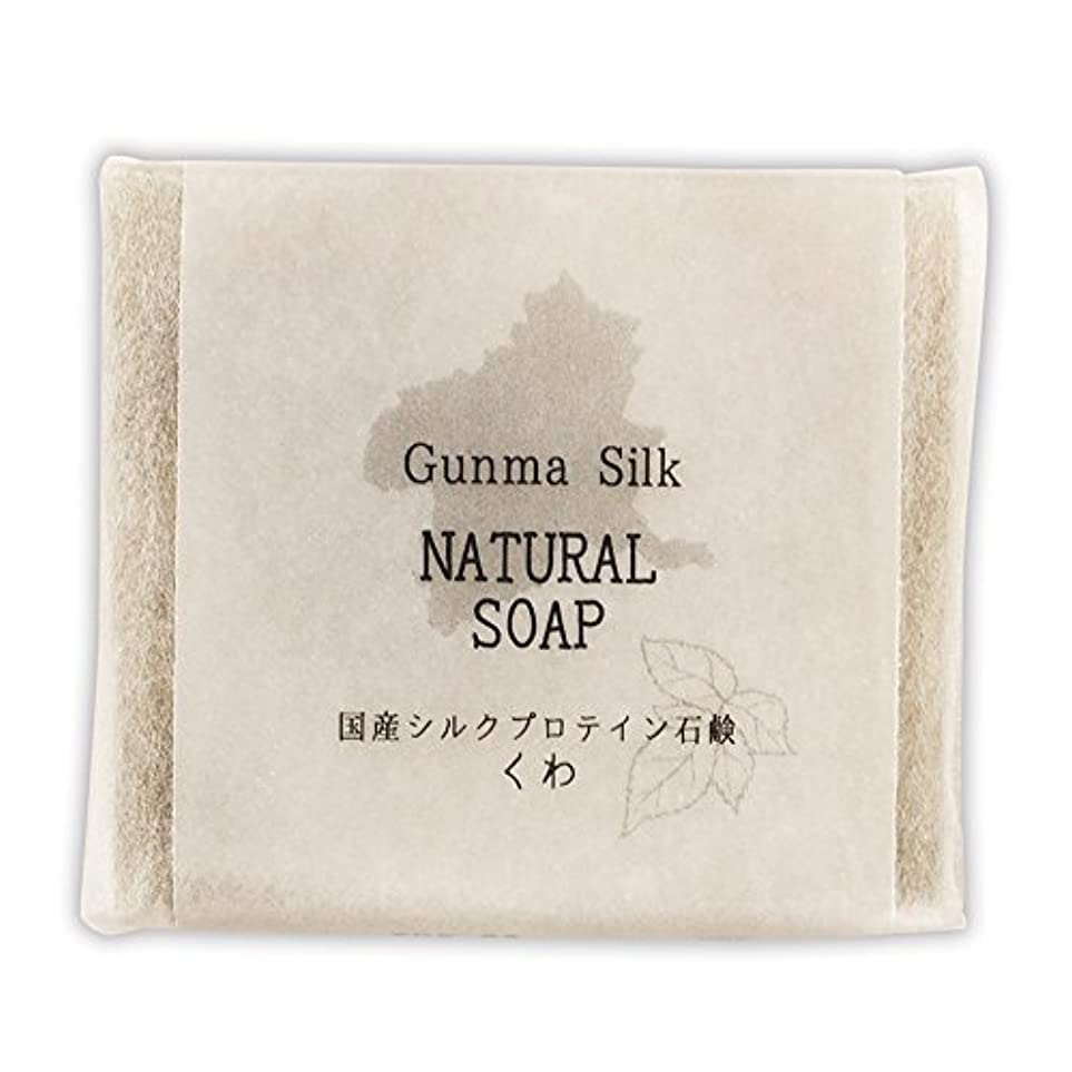 独占ビュッフェポークBN 国産シルクプロテイン石鹸 くわ SKS-03 (1個)