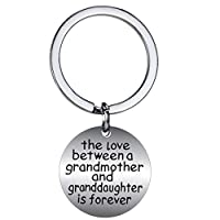 BESPMOSP キーチェーン The Love Between Grandmother and Granddaughter is Forever キーリング 誕生日 家族