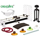 Creator's Bottle Cutter - Ultimate Suite Edition W/Black Bottle Neck Cutter - Set of 4 Glastoppers - Abrasive Stone - Google Rated Number 1 Best DIY Bottle Cuttting System Worldwide - Made in The USA