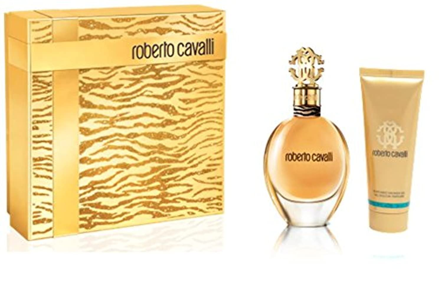 寝てる走る感性ロベルトカヴァリ Roberto Cavalli (New) Coffret: Eau De Parfum Spray 75ml + Body Lotion 75ml 2pcs [海外直送品]