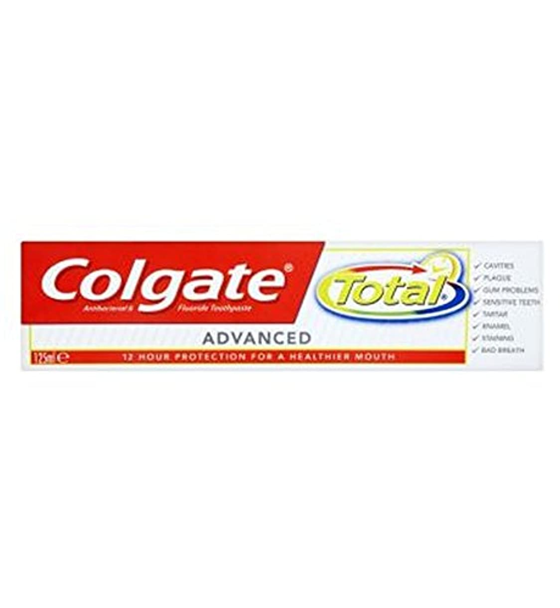 不透明な今晩速報Colgate Total advanced 125ml - コルゲートトータル高度な125ミリリットル (Colgate) [並行輸入品]