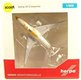 herpa 1/500 787-8 Scoot航空 9V-OFG Kama Scootra 完成品