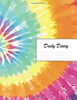 Daily Diary: Blank 2020 Journal Entry Writing Paper for Each Day of the Year | Tie Dye Hippy Pattern | January 20 - December 20 | 366 Dated Pages | A Notebook to Reflect, Write, Document & Diarise Your Life, Set Goals & Get Things Done