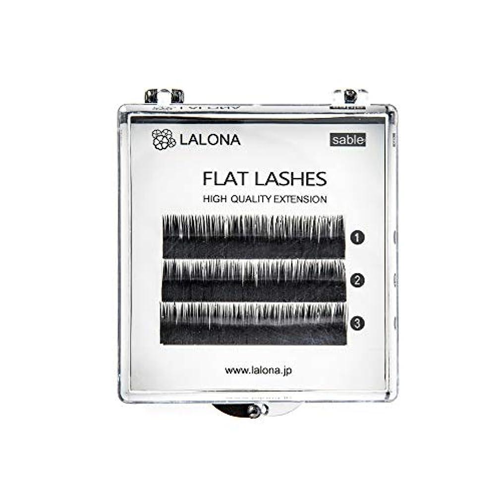 確かめる練るよりLALONA [ ラローナ ] フラットラッシュ (BLK) (3列) まつげエクステ 平面加工 Lディテール ブラック (Cカール 0.15 / 11mm)