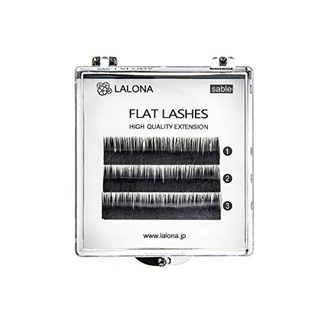 平和疼痛母音LALONA [ ラローナ ] フラットラッシュ (BLK) (3列) まつげエクステ 平面加工 Lディテール ブラック (Cカール 0.15 / 11mm)
