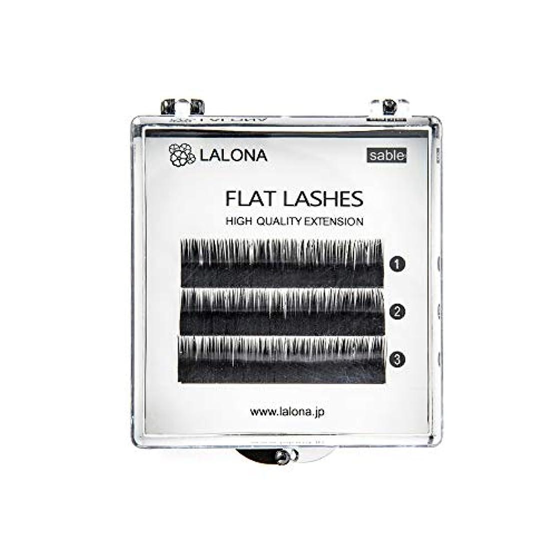 わずかな収縮勘違いするLALONA [ ラローナ ] フラットラッシュ (BLK) (3列) まつげエクステ 平面加工 Lディテール ブラック (Cカール 0.1 / 10mm)