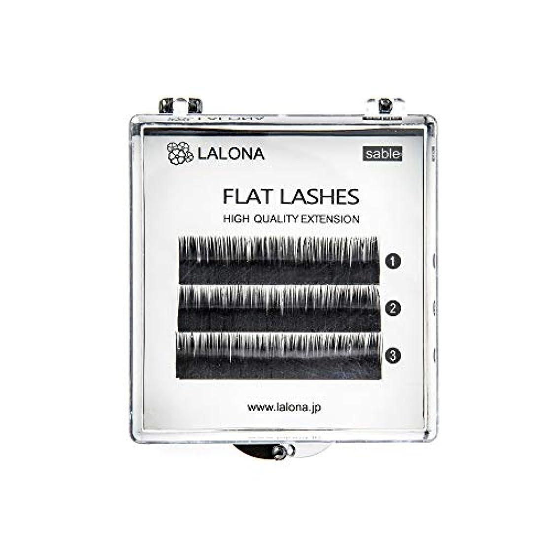 エッセイ開拓者不正直LALONA [ ラローナ ] フラットラッシュ (BLK) (3列) まつげエクステ 平面加工 Lディテール ブラック (Cカール 0.1 / 9mm)