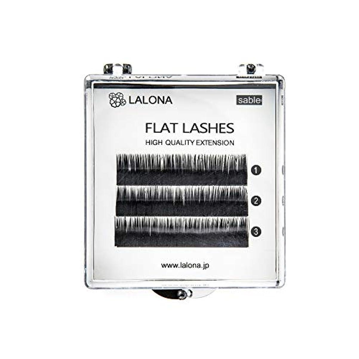 収入華氏特異なLALONA [ ラローナ ] フラットラッシュ (BLK) (3列) まつげエクステ 平面加工 Lディテール ブラック (Cカール 0.1 / 10mm)