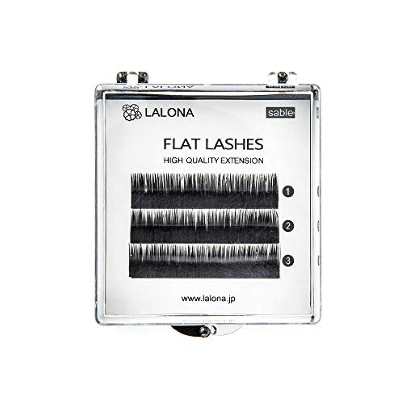 借りている元の一般化するLALONA [ ラローナ ] フラットラッシュ (BLK) (3列) まつげエクステ 平面加工 Lディテール ブラック (Jカール 0.1 / 10mm)