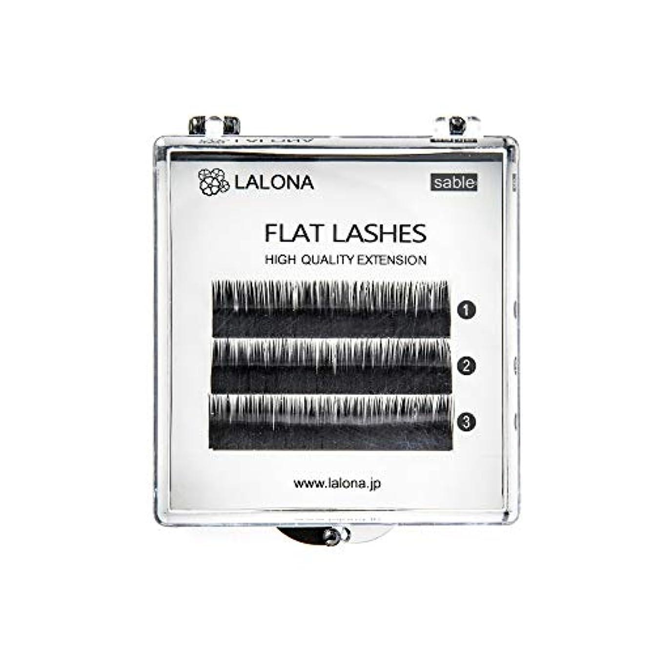 磁石忘れる皮肉なLALONA [ ラローナ ] フラットラッシュ (BLK) (3列) まつげエクステ 平面加工 Lディテール ブラック (Cカール 0.15 / 12mm)