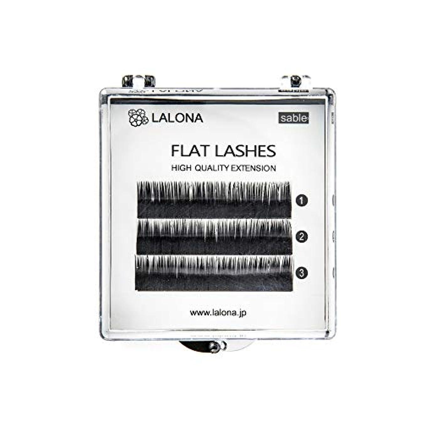 契約するスリンク蒸し器LALONA [ ラローナ ] フラットラッシュ (BLK) (3列) まつげエクステ 平面加工 Lディテール ブラック (Dカール 0.15 / 11mm)