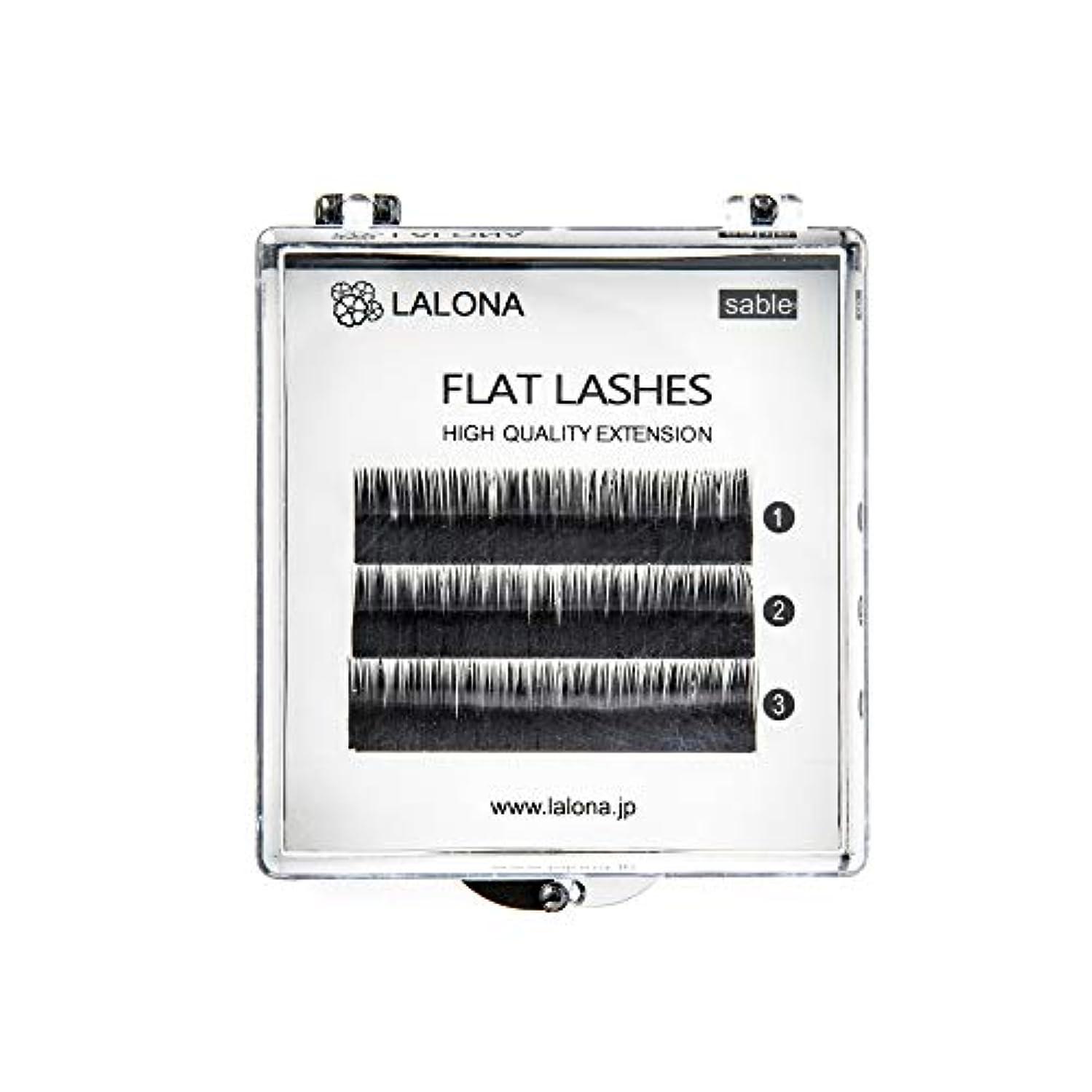 ダースナイロン台無しにLALONA [ ラローナ ] フラットラッシュ (BLK) (3列) まつげエクステ 平面加工 Lディテール ブラック (Cカール 0.1 / 10mm)