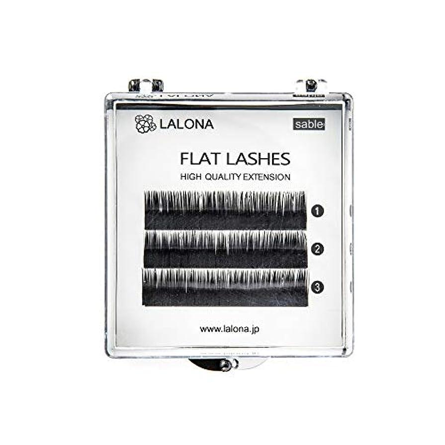 不従順メッシュ姿勢LALONA [ ラローナ ] フラットラッシュ (BLK) (3列) まつげエクステ 平面加工 Lディテール ブラック (Jカール 0.1 / 10mm)