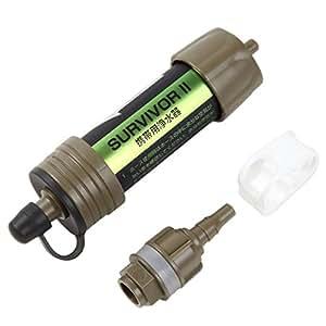 99.9999%の異物・バクテリアを除去 携帯用浄水器 ペットボトルに接続可で使いやすさ抜群!災害時 登山等に 1年保証付!